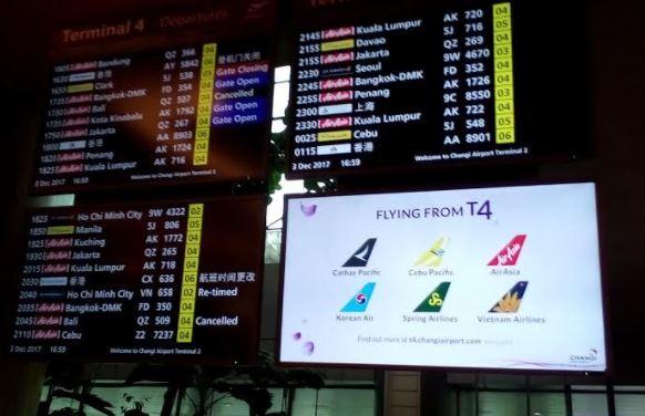 チャンギ空港Terminal 4に行ってみた